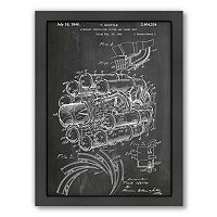 Americanflat ''Jet Engine'' Framed Wall Art