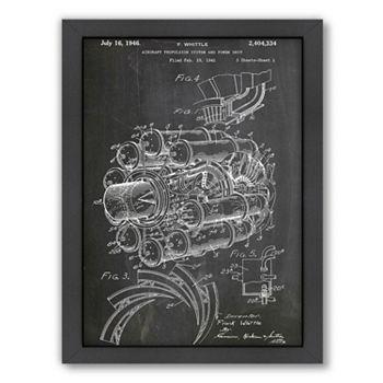 Americanflat ''Jet Engine'' Framed Wall Art