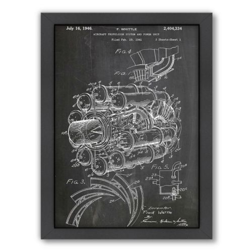 "Americanflat ""Jet Engine"" Framed Wall Art"