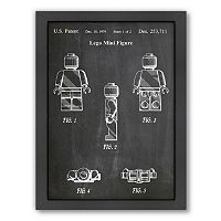 Americanflat ''Lego Mini Figure'' Framed Wall Art