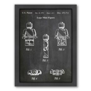 Americanflat ''Lego Mini Figure'' Framed Wall Art
