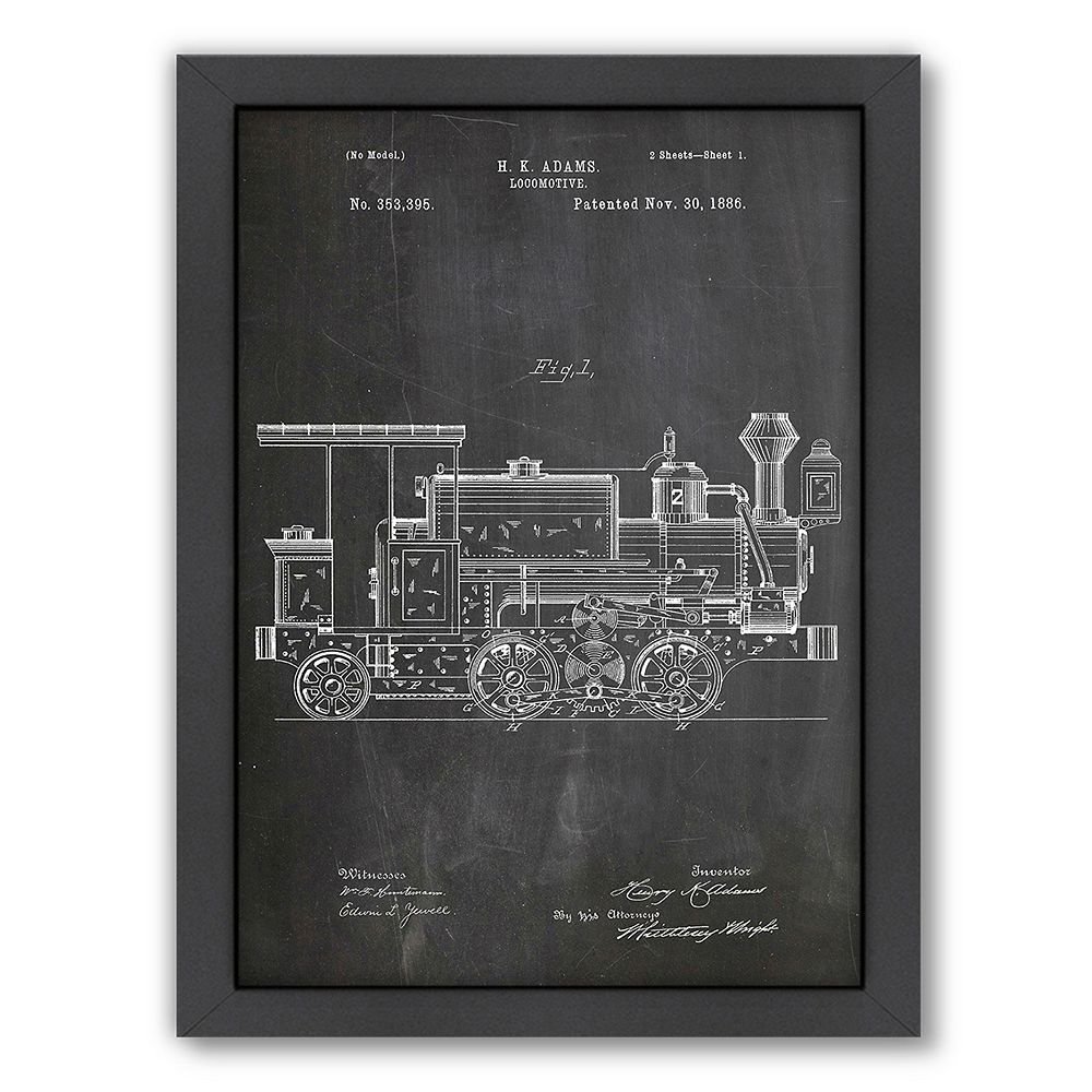 Americanflat ''Locomotive'' Framed Wall Art