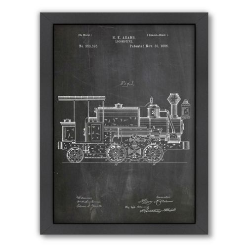 Americanflat ''Locomotive'' Framed Wall Art