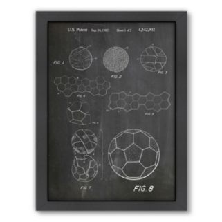 Americanflat ''Soccer Ball'' Framed Wall Art
