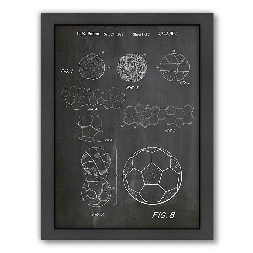 Americanflat ''Soccer Ball'' Framed Wall Art