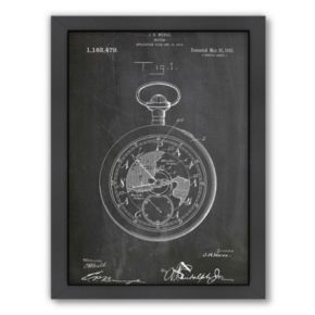 Americanflat ''Pocket Watch'' Framed Wall Art