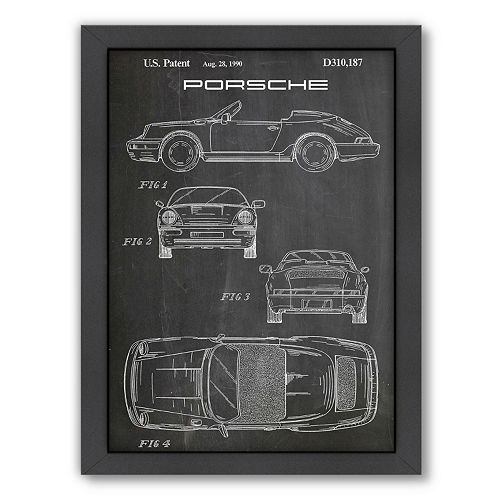 Americanflat ''Porsche'' Framed Wall Art