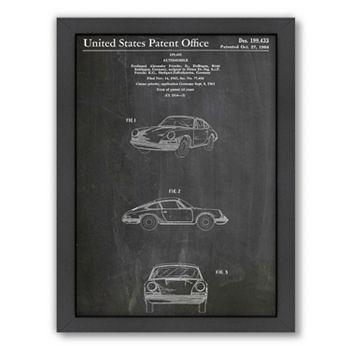 Americanflat ''Porsche 911'' Framed Wall Art