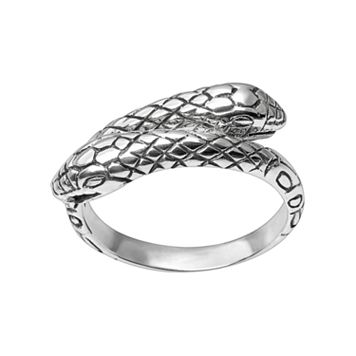 Journee Collection Sterling Silver Snake Ring