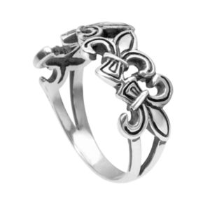 Journee Collection Sterling Silver Fleur-de-Lis Ring
