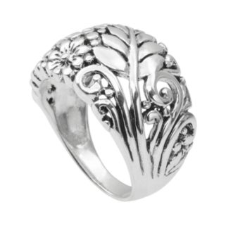 Journee Collection Sterling Silver Flower Ring