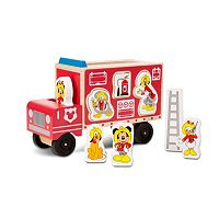 Disney Mickey Mouse & Friends Wooden Fire Truck Playset by Melissa & Doug