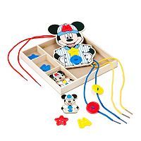 Disney Mickey Mouse Clubhouse Button-Match Wooden Lacing Set by Melissa & Doug