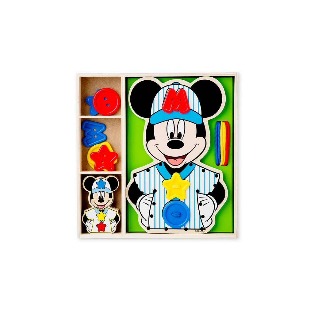 Disney Mickey Mouse Clubhouse Button-Match Wooden Lacing Set by Melissa and Doug