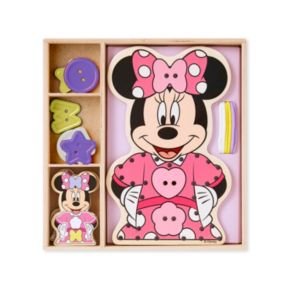 Disney Mickey Mouse and Friends Minnie Mouse Button-Match Wooden Lacing Set by Melissa and Doug