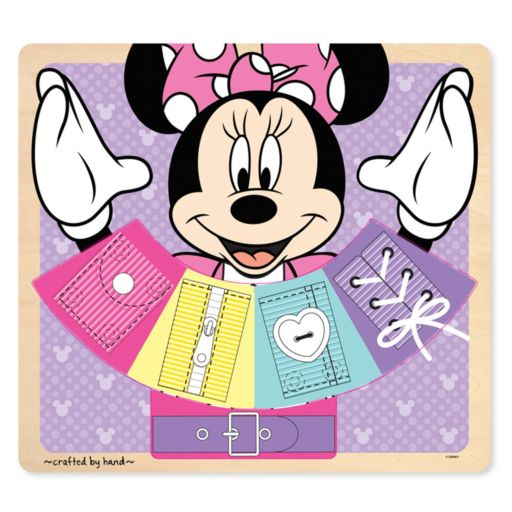 Disney Mickey Mouse and Friends Minnie Mouse Wooden Basic Skills Board by Melissa and Doug