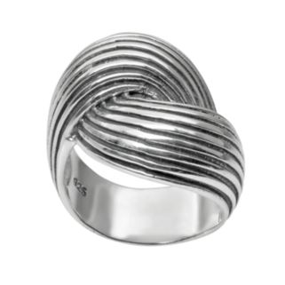 Journee Collection Sterling Silver Bypass Ring