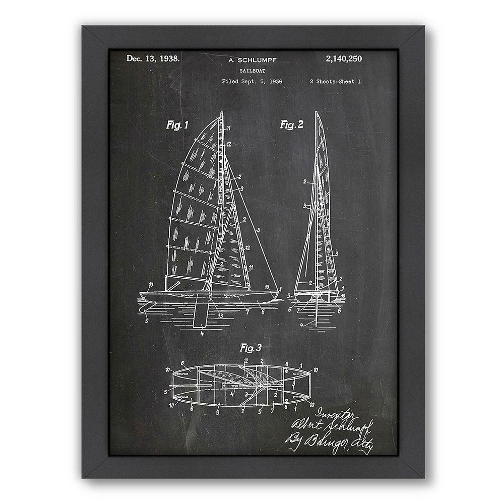 Americanflat Sailboat Framed Wall Art