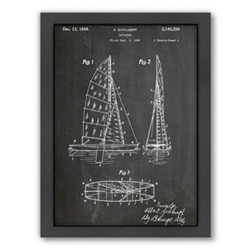 Americanflat Sailboat Framed Wall Art