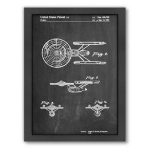 Americanflat ''Starship Enterprise'' Framed Wall Art