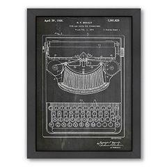 Americanflat ''Typewriter'' Framed Wall Art