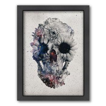 Americanflat ''Floral Skull 2'' Framed Wall Art