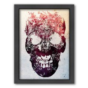 Americanflat ''Floral Skull'' Framed Wall Art