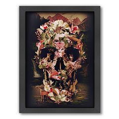 Americanflat ''Jungle Skull'' Framed Wall Art
