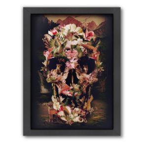Americanflat ''Jungle Skull'' Framed Wall Art