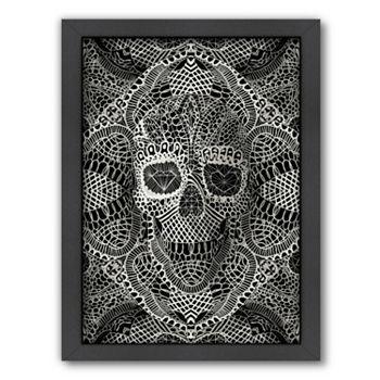 Americanflat ''Lace Skull'' Framed Wall Art