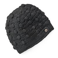 SIJJL Fleece-Lined Crochet Wool Beanie Hat