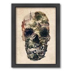 Americanflat ''Skull Town'' Framed Wall Art