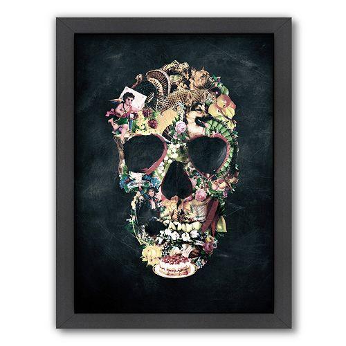 Americanflat ''Vintage Skull'' Framed Wall Art