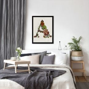 Americanflat ''A'' Floral Framed Wall Art