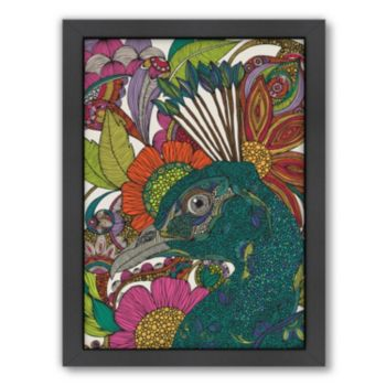 Americanflat ''Alexis and the Flowers'' Framed Wall Art