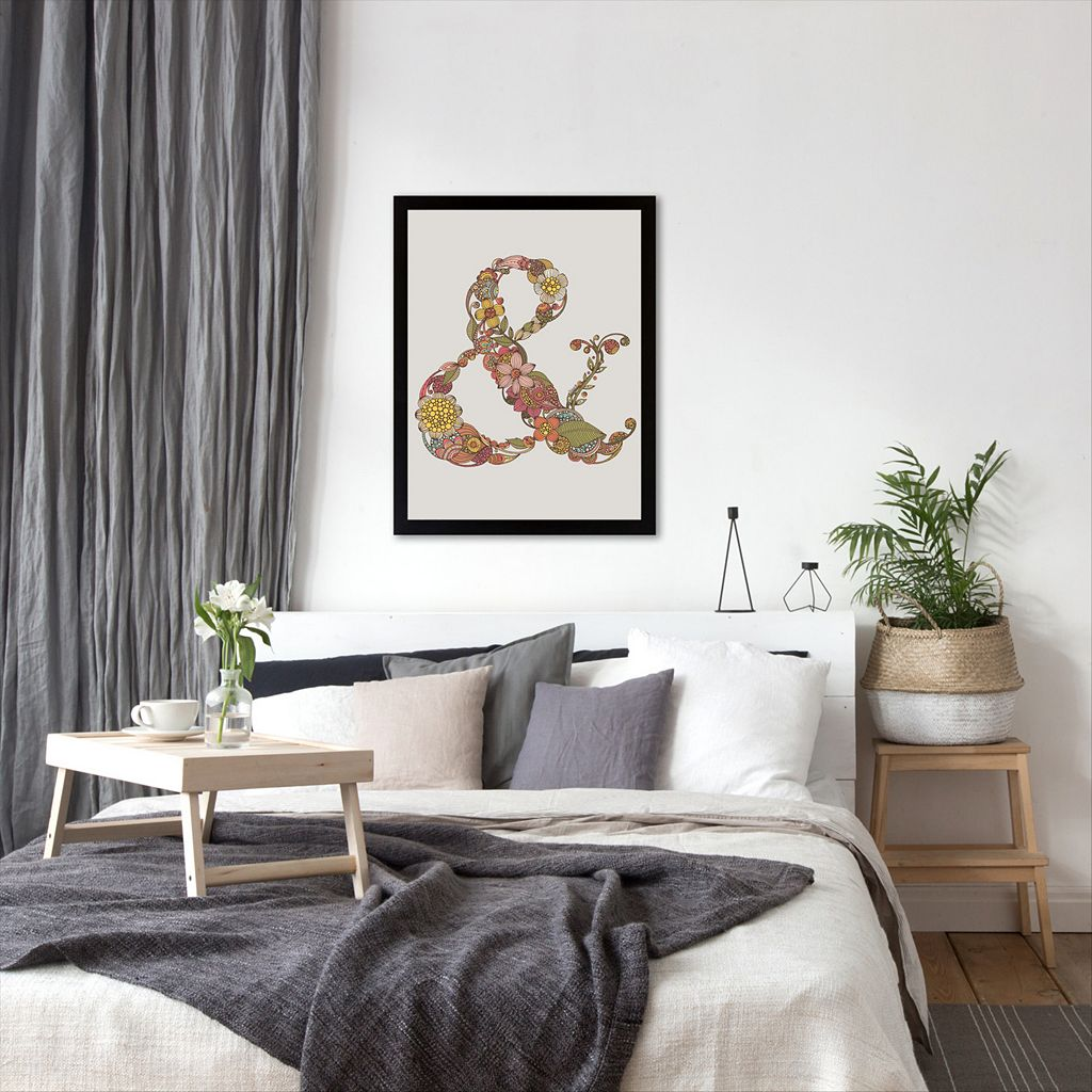 Americanflat ''Ampersand'' Floral Framed Wall Art