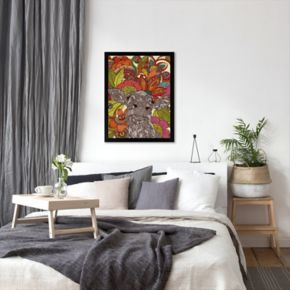 Americanflat ''Arabella and the Flowers'' Framed Wall Art