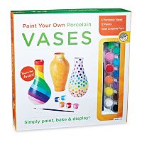 MindWare Paint Your Own Porcelain Vases Kit