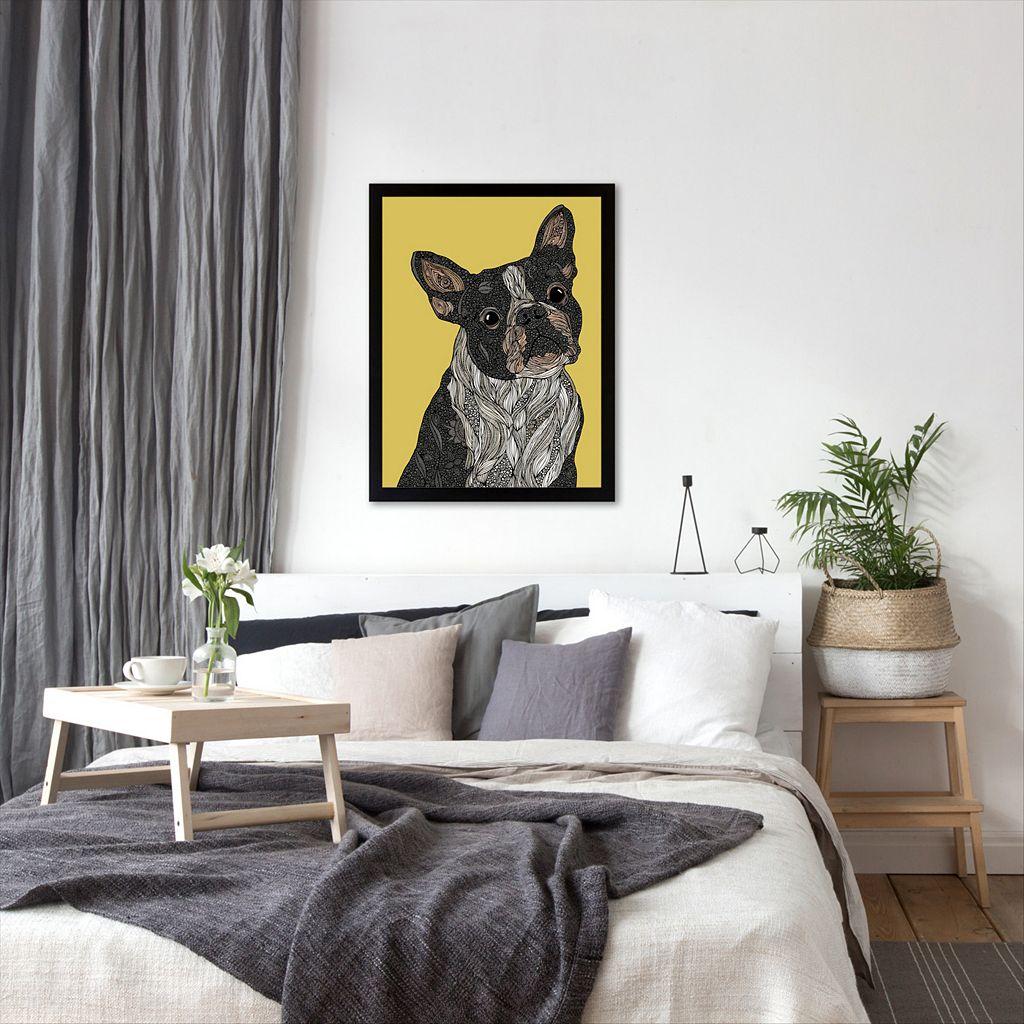 Americanflat ''Barkysimeto'' Dog Framed Wall Art