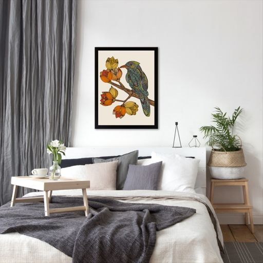 Americanflat ''Bravebird'' Bird Framed Wall Art