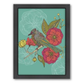 Americanflat ''Contented Constance'' Bird Framed Wall Art