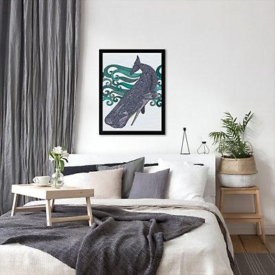 Americanflat ''Deep Violet'' Whale Framed Wall Art