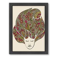 Americanflat ''Dreaming Flowers'' Framed Wall Art