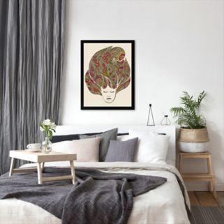 Americanflat ''Dreaming Flowers'' Framed Wall Art