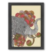 Americanflat ''Dreams of India'' Elephant Framed Wall Art