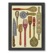 Americanflat ''Let's Cook'' Framed Wall Art