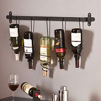 Southern Enterprises Alice 5-Bottle Wall Wine Rack