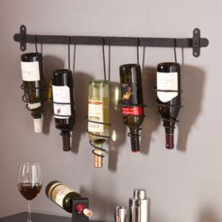 Southern Enterprises Alice 5-Bottle Wall Wine Rack