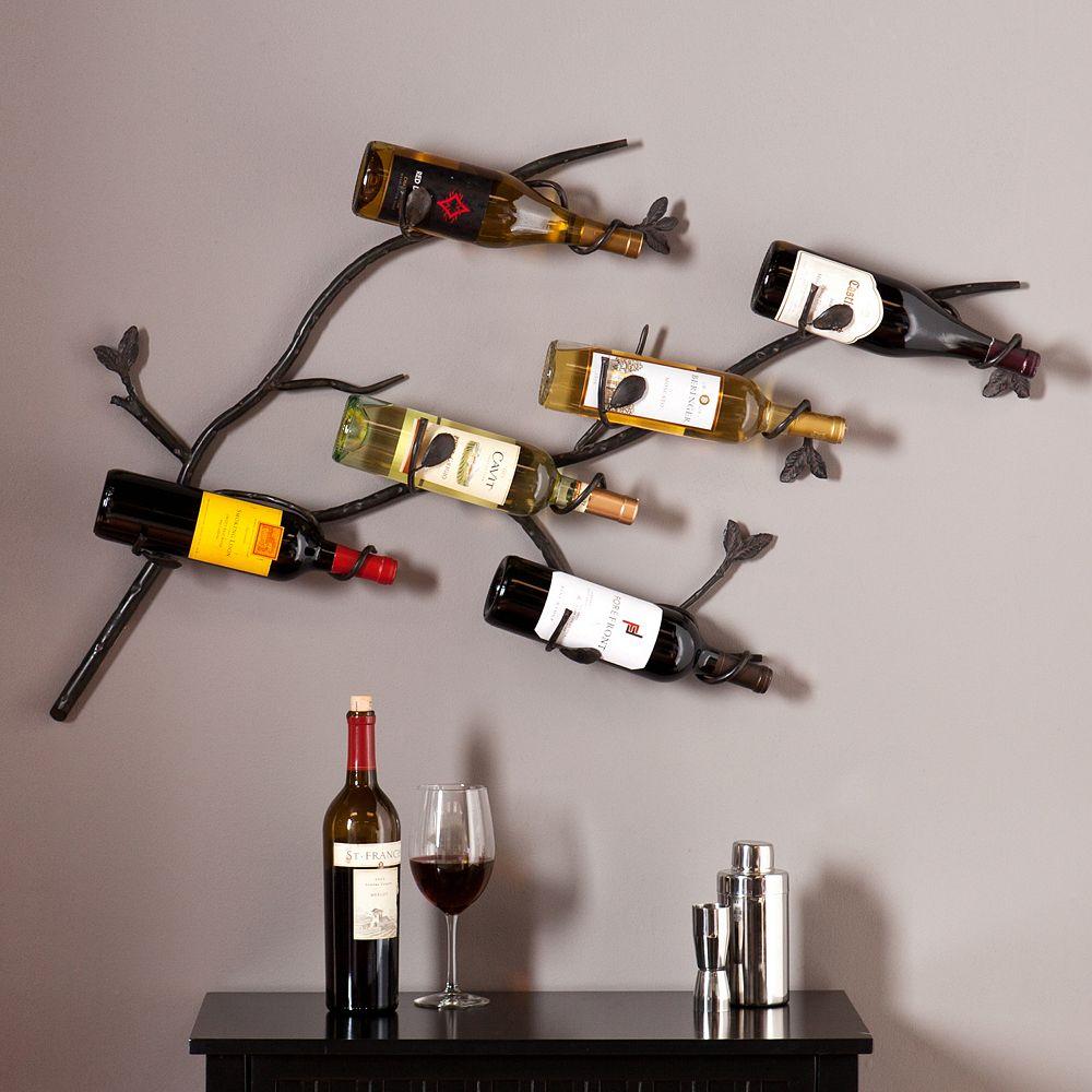 Southern Enterprises Britain 6-Bottle Wall Wine Rack