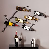 Southern Enterprises Britain 6-Bottle Wall Wine Rack